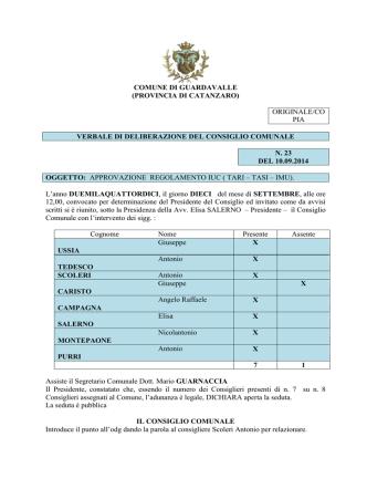 COMUNE DI GUARDAVALLE (PROVINCIA DI CATANZARO