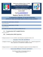 CU 44 SGS... - FIGC Comitato Regionale Emilia Romagna