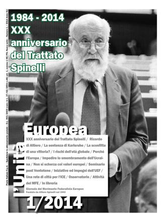 2014, Numero 1 - Movimento Federalista Europeo