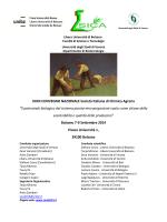 XXXII CONVEGNO NAZIONALE Società Italiana di Chimica Agraria