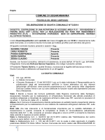 Delibera di Giunta Comunale n°73/2014