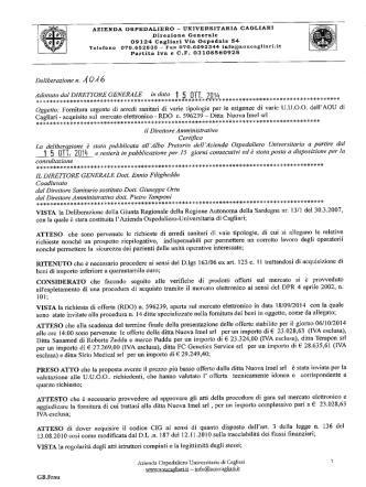 Deliberazione n. 1016 del 15.10.2014
