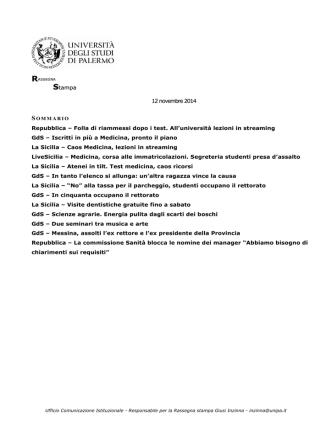 12. rassegna stampa 12 novembre 2014