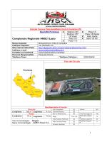 Scheda Tecnica Pista AutoModel Club di Cantalice