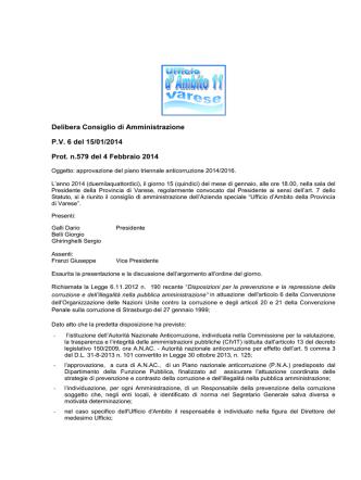 Delibera n- 6 nomina responsabile anticorruzione