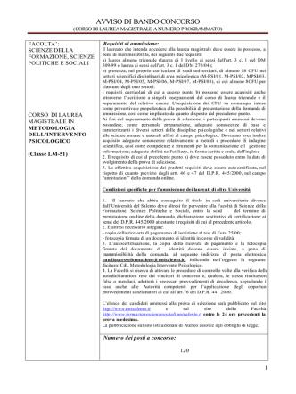 AVVISO DI BANDO CONCORSO - Università del Salento