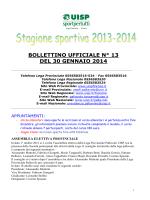 Bollettino 13 del 30 gen ()