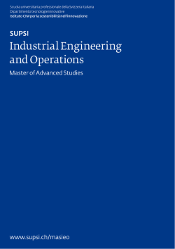 Industrial Engineering and Operations