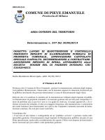 AREA GOVERNO DEL TERRITORIO Determinazione
