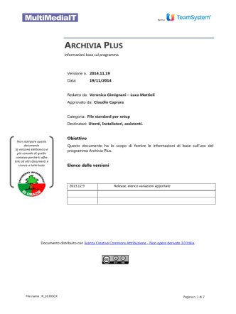 Archivia Plus - Multimedia.it