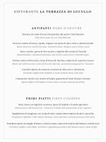 Menu Dinner - Caesar Augustus