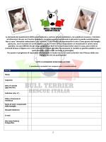 Questionario pre affido BTRI - Bull Terrier Rescue Italia