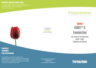 COBIT™ 5 Foundation - Prometeo Management Consulting