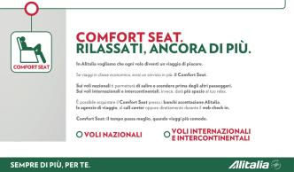 COMFORT SEAT. RILASSATI, ANCORA DI PIÙ.