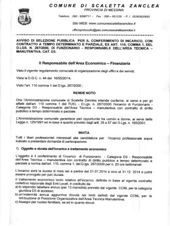 COMUNE DI SCALETTA ZANCLEA