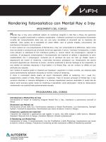 Rendering fotorealistico con Mental Ray e Iray