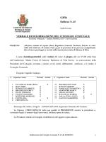 Delibera N. 45 VERBALE DI DELIBERAZIONE DEL CONSIGLIO