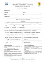 CONTRATTO FORMATIVO Riqualificazione Operatore