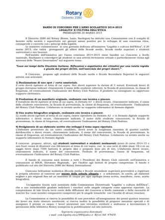 Bando Rotary- Legalità - Ufficio Scolastico Regionale Piemonte