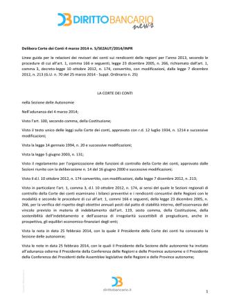 1 Delibera Corte dei Conti 4 marzo 2014 n. 5