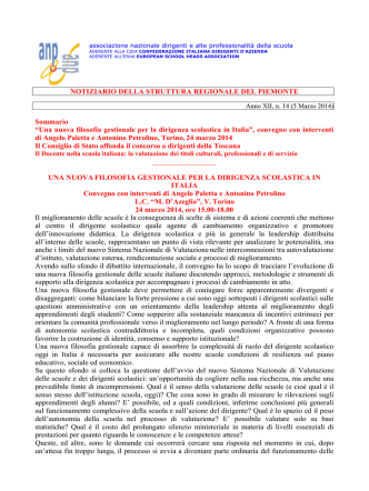 Anno XII, n. 14 (5 Marzo 2014)