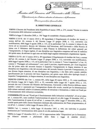 DDG 956 - Specifiche progetto formativo