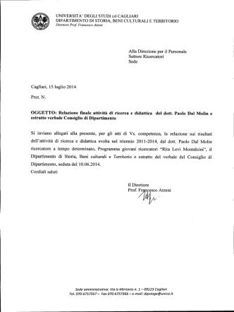 All.9 - Università degli studi di Cagliari.