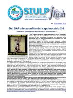 Dal SAP alle sconfitte del sappinocchio 2.0