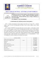 settore lavori pubblici - Comune di Sabbio Chiese