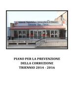 piano per la prevenzione della corruzione triennio 2014