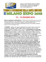"""sindone"" e milano "" expo 2015"""