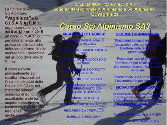 Corso Sci Alpinismo SA3 - Scuola