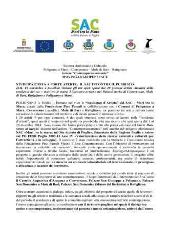 comunicato stampa - Palazzo Pino Pascali