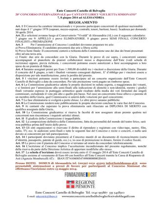 bando sim 2014 - ente concerti castello di belveglio