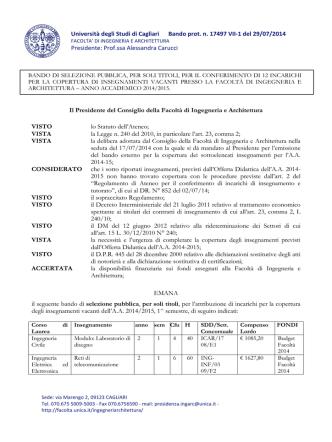 bando insegnamenti a.a. 2014-15_1^ sem