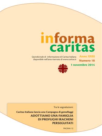 Anno XXIII | Numero 18 - Caritas Perugia e Città della Pieve