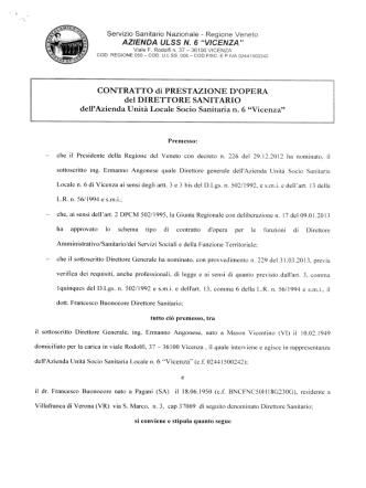 Contratto Dr. Francesco Buonocore