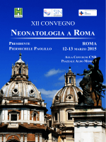 XII CONVEGNO NEONATOLOGIA A ROMA