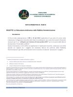 OGGETTO: La fatturazione elettronica nella Pubblica Amministrazione