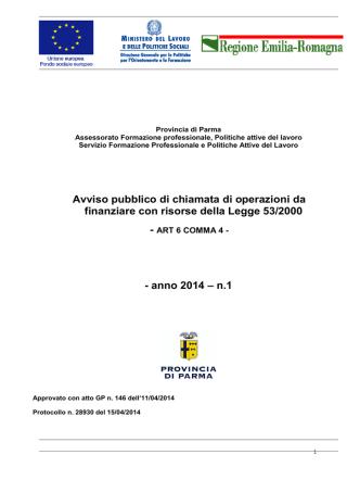 2014 bando legge 53 - Provincia di Parma