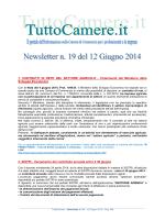 Newsletter n. 19 del 12 Giugno 2014 1