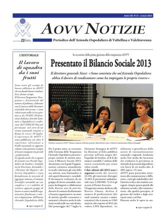 AOVV NOTIZIE - Azienda Ospedaliera della Valtellina e della