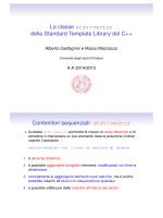 La classe std::vector della Standard Template Library del C++