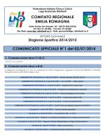 CU 1 SGS - FIGC Comitato Regionale Emilia Romagna