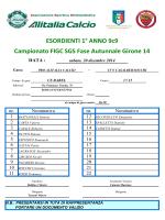 ESORDIENTI 1° ANNO 9c9 Campionato FIGC SGS Fase Autunnale