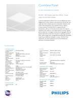 Product Leaflet: CoreView panel RC165V, apparecchio per