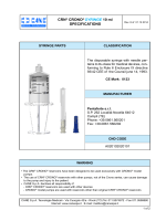 CRN® CRONO® SYRINGE 10 ml SPECIFICATIONS
