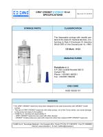 CRN® CRONO® SYRINGE 10 ml SPECIFICATIONS