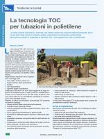 La tecnologia TOC per tubazioni in polietilene