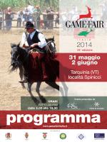 programma - Game Fair Italia